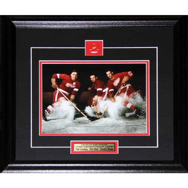 Ted Lindsay Sid Abel Gordie Howe Detroit Red Wings 8x10-inch Frame