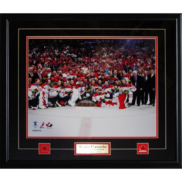 Team Canada 2010 Men's Hockey Gold Medal 16x20-inch Frame 19200232