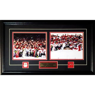 Team Canada 2010 Men and Women Hockey 8x10s Gold Frame