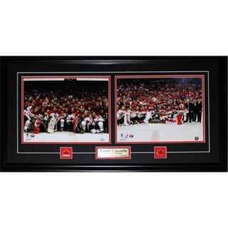 Team Canada 2010 Men and Women Hockey 11x14s Gold Frame