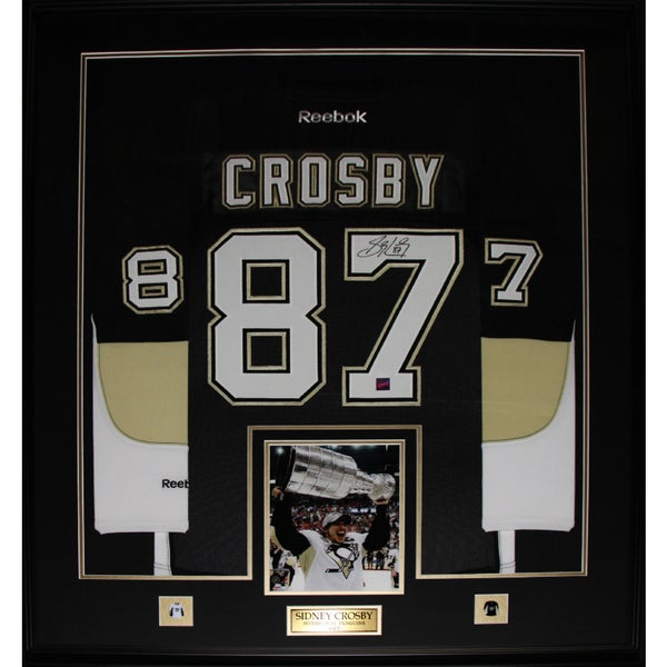 Sidney Crosby Pittsburgh Penguins Signed Jersey Frame 19200261