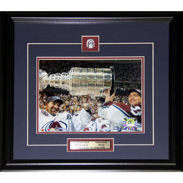 Ray Bourque and Patrick Roy Colorado Avalanche Stanley Cup 8x10-inch Frame 19200322