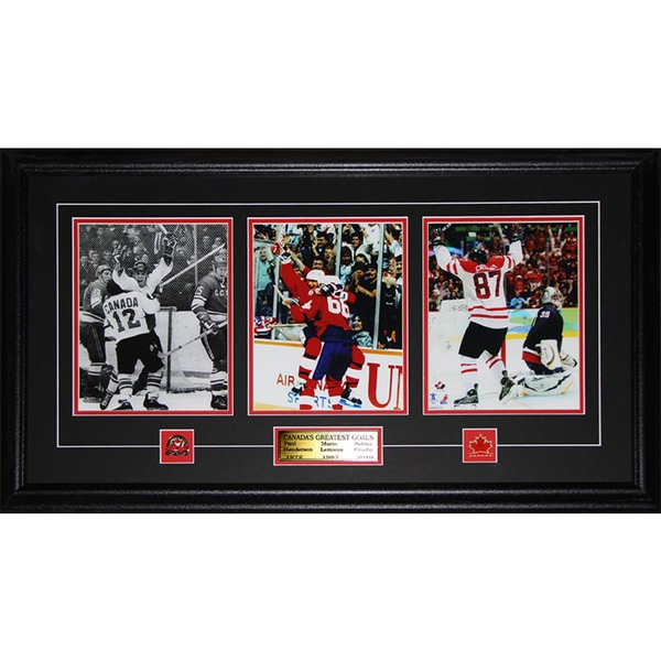 Paul Henderson Wayne Gretzky Sidney Crosby Canada's Greatest Goals 3 Photo Frame
