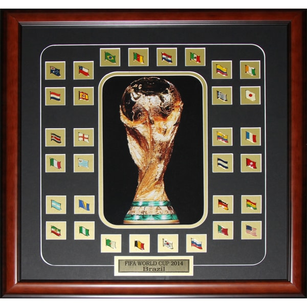 Fifa 2014 World Cup Final 32 Team Pins Soccer Frame 19200387