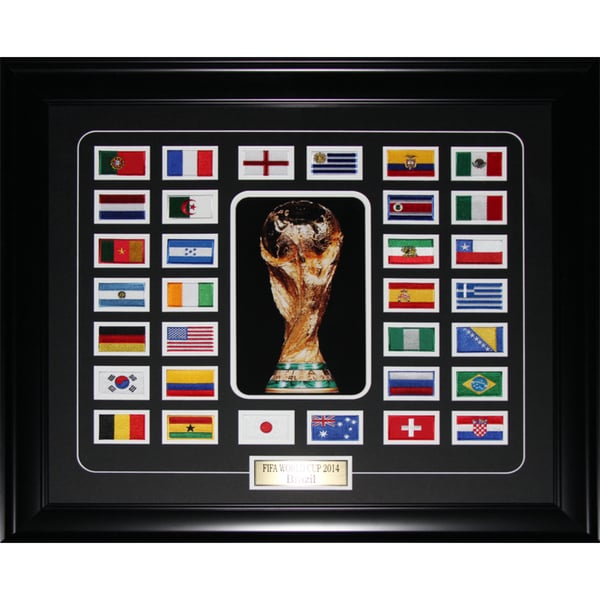 Fifa 2014 World Cup Final 32 Team Patch Soccer Frame
