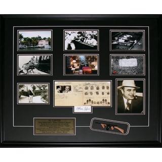 Al Capone Reproduction Signature Frame