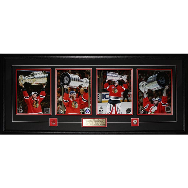 2015 Chicago Blackhawks Stanley Cup Champions 4 Photo Frame 19200783