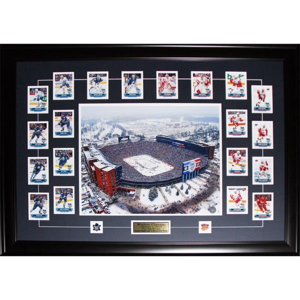 2014 Winter Classic Toronto Maple Leafs Detroit Red Wings Cards Set Frame
