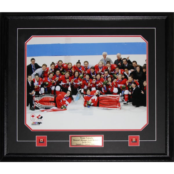2014 Team Canada Womens Hockey Gold Medal Sochi 16x20-inch Frame