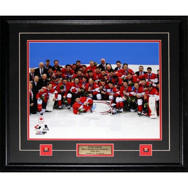 2014 Team Canada Men's Hockey Gold Medal Sochi 16x20-inch Frame