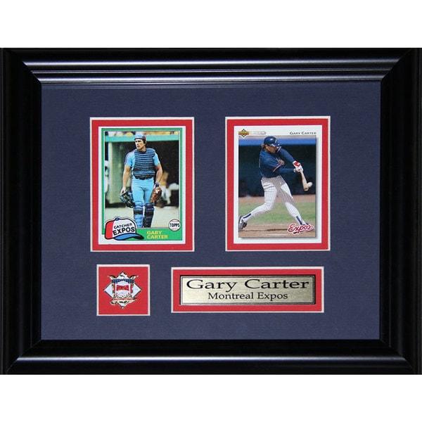 Gary Carter Montreal Expos Mlb Baseball 2-card Frame