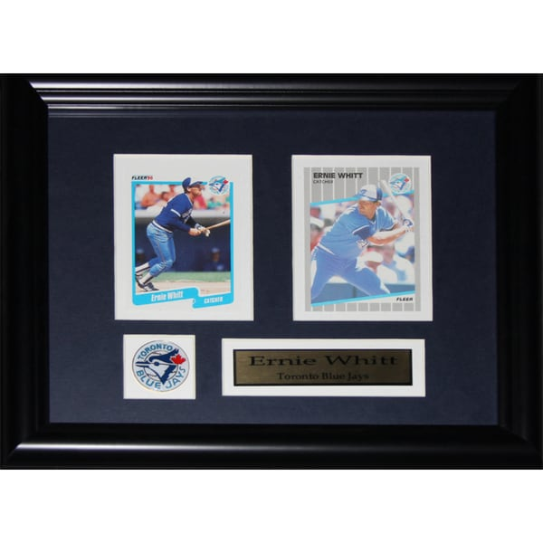 Ernie Whitt Toronto Blue Jays 2-card Frame