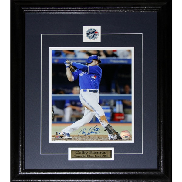 Colby Rasmus Toronto Blue Jays Signed 8x10-inch Frame