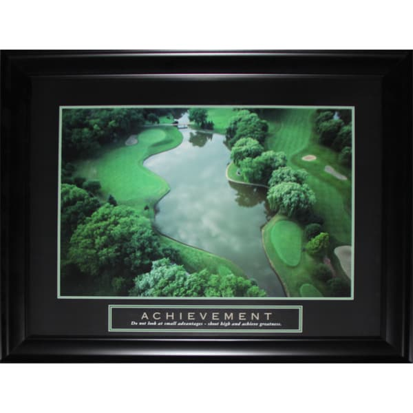 Achievement Golf Green Course Motivational Large Frame