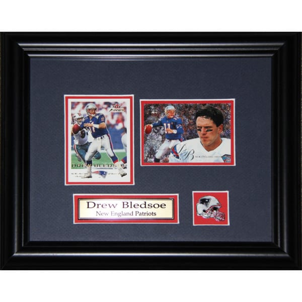 Drew Bledsoe New England Patriots 2-card Frame 19200868