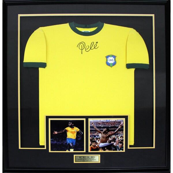 Pele Signed Brazil Jersey Frame 19200989