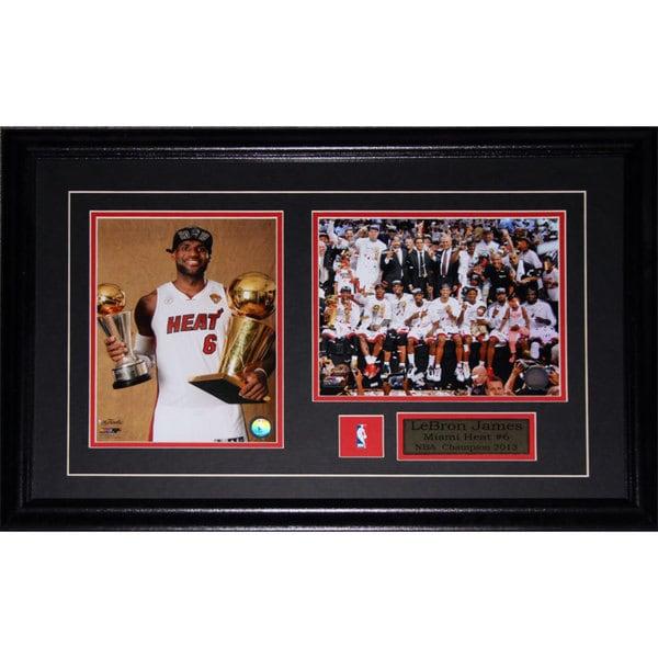 Lebron James Miami Heat 2013 Championship 2-photo Frame