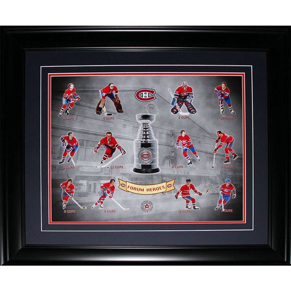 Montreal Canadiens Stanley Cup Vintage Forum Heroes 16x20-inch Frame 19201075