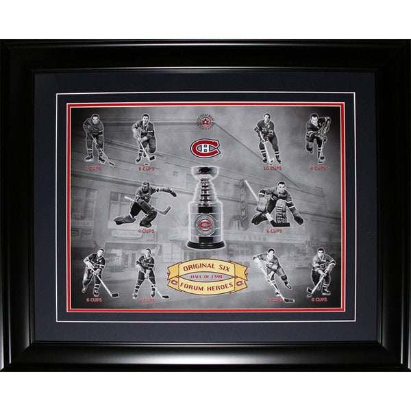 Montreal Canadiens Stanley Cup Forum Heroes 16x20-inch Frame 19201077