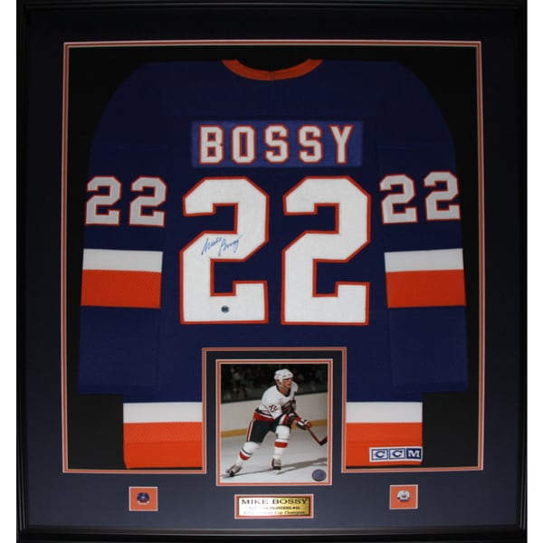 Mike Bossy New York Islanders Signed Jersey Frame 19201115