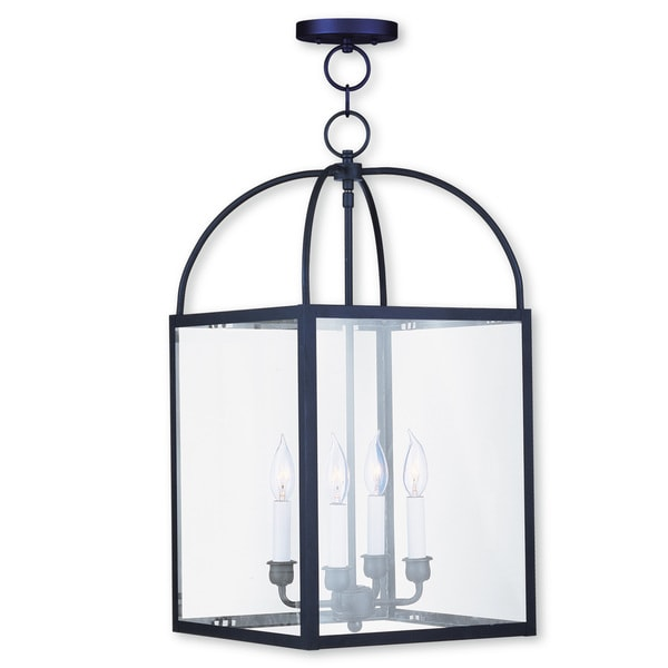Livex Lighting Milford Black Steel 4-light Chain Lantern