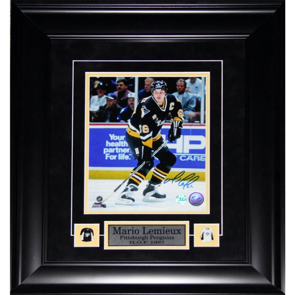 Mario Lemieux Pittsburgh Penguins Signed 8x10-inch Frame 19201167