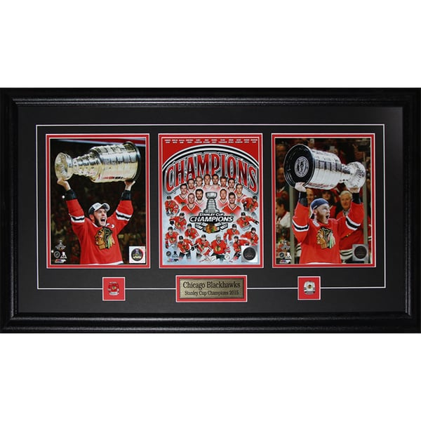Jonathan Toews and Patrick Kane Chicago Blackhawks 2015 Stanley Cup 3 Photo Frame 19201218