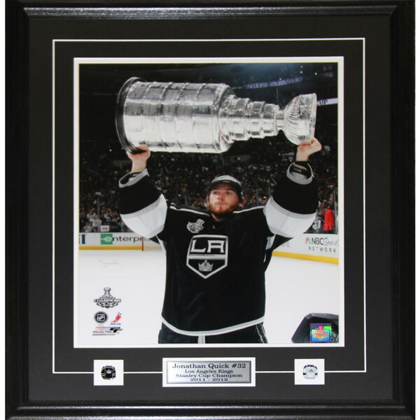 Jonathan Quick Los Angeles Kings Stanley Cup 16x20-inch Frame 19201220
