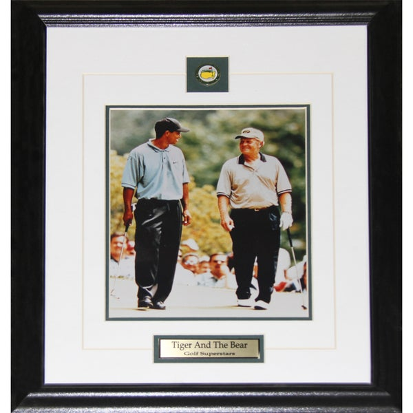Tiger Woods and Jack Nicklaus Tiger and The Golden Bear 8x10-inch Frame