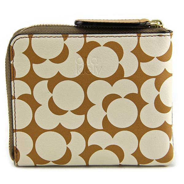 Orla Kiely Women's Printed Synthetic Pocket Small Zip Wallet Handbag