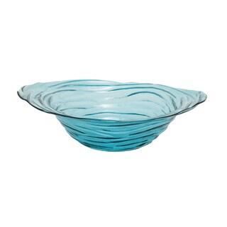 Tornado Blue Glass Bowl