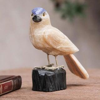 Handcrafted Calcite Onyx 'Sparrow of Creativity' Sculpture (Peru)