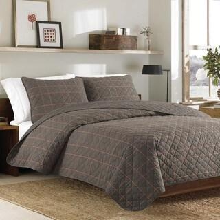 Eddie Bauer Inglewood Tan Cotton 3-piece Quilt Set