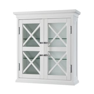 Elegant Home Fashions Grayson Wall Cabinet with two Doors