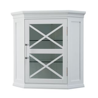Grayson Corner Wall Cabinet by Elegant Home Fashions