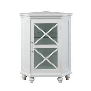 Grayson Corner Floor Cabinet in White