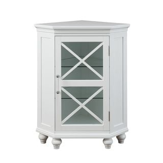 Grayson Corner Floor Cabinet by Elegant Home Fashions