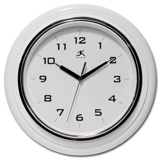 Infinity Instruments Deluxe 13-inch White Wall Clock