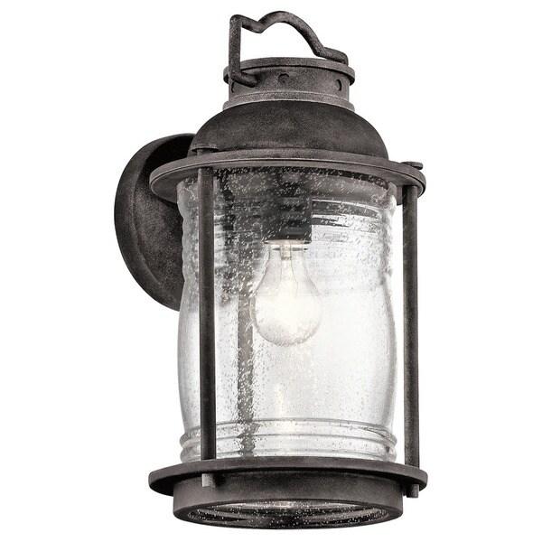 Kichler Lighting Ashland Bay Collection 1-light Weathered Zinc Outdoor Wall Lantern