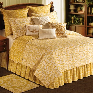 Florence Collection Yellow Cotton Quilt