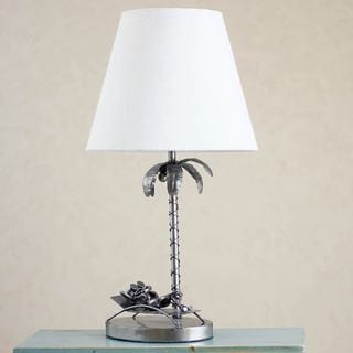 Handcrafted Auto Part 'Cancun Beach Frog' Table Lamp (Mexico)