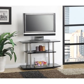 Convenience Concepts Designs2Go Black Stainless Steel, Wood 3 Tier TV Stand