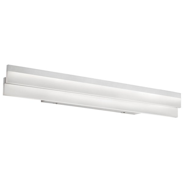 Dainolite Silver Polished Chrome 30-watt LED Flat Vanity Fixture
