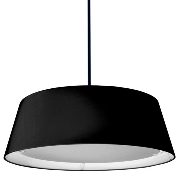 Dainolite Black 22-watt LED Tapered Drum Shade