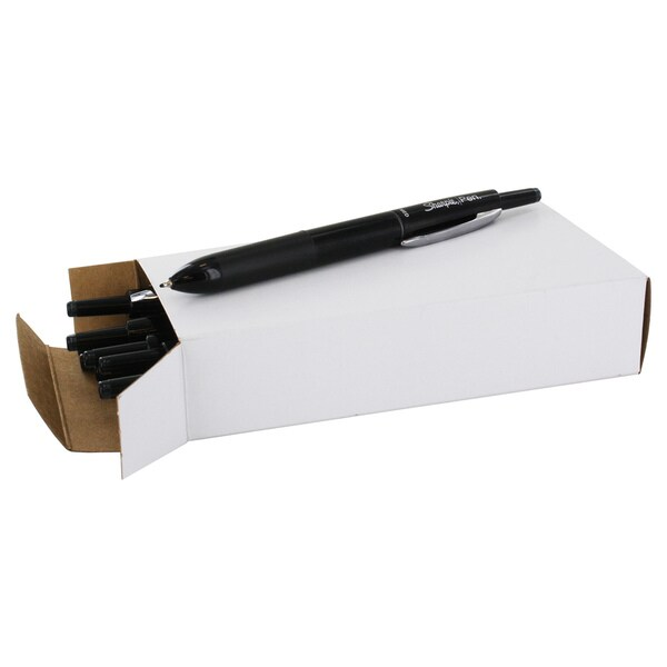 Sharpie Black Plastic Porous-point Retractable Medium-point Permanent Water-resistant Pen