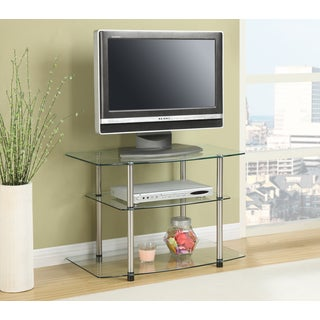Convenience Concepts Designs2Go Glass/Stainless Steel TV Stand