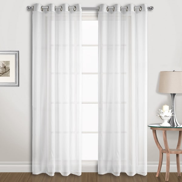 Wrap Around Curtain Rod Wide Semi Sheer Curtains