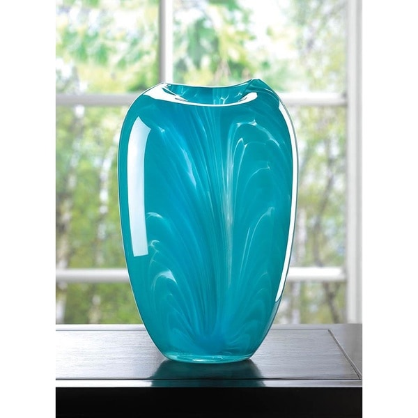 Columbine Modern Blue Glass Vase