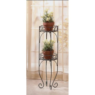 Camden Black Metal Scrolling Plant Holder