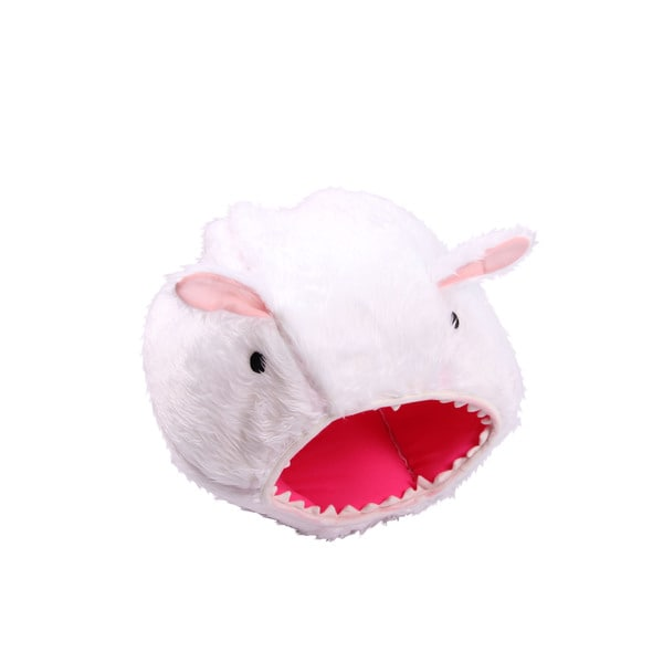 Purrrfect Life White Polyester Rabbit-shaped Dog or Cat Bed